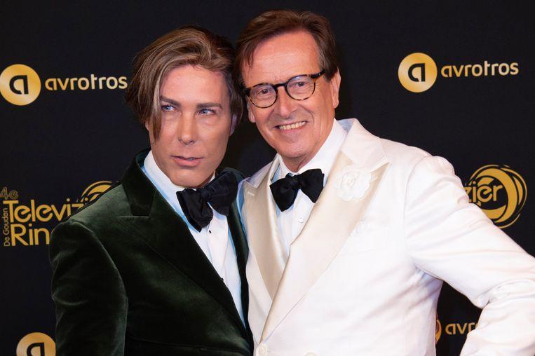 Gouden Televizier-Ring Gala 2019 in het AFAS Live, Amsterdam.  Op de foto:   Frank Jansen en Rogier Smit Beeld EM-Press/Patrick van Emst