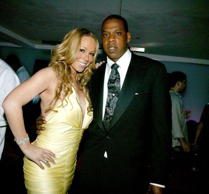 Mariah Carey and Jay-Z during Mariah Carey's Sweet
