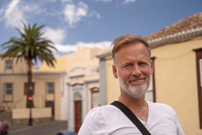 Erik Jan Harmens in El Paso, tijdens zijn vakantie op La Palma.