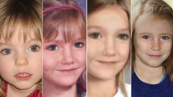 Sinds de verdwijning van de in 2007 bijna 4-jarige Maddie heeft de politie in het opsporingsproces diverse tekeningen laten maken van hoe ze er nu uit zou kunnen zien