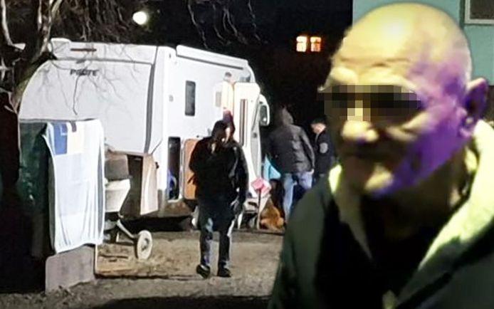 Georges D. (64) werd begin februari vorig jaar uit zijn mobilhome geplukt door Roemeense Special Forces. © Screenshots Stiriliprotv / Youtube / Antena3.