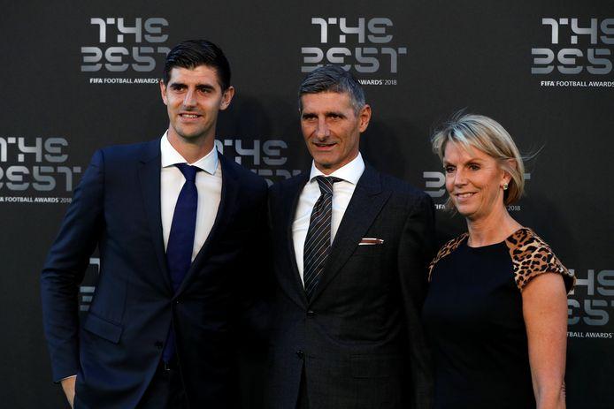 Thibaut Courtois, papa Thierry en mama Gitte.