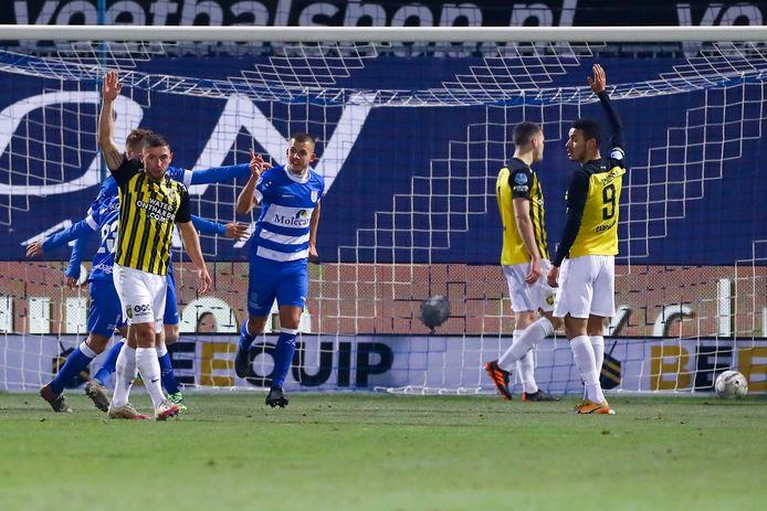 Voor de winterstop speelde PEC ook voornamelijk op zaterdag, onder meer thuis tegen Vitesse (2-1).