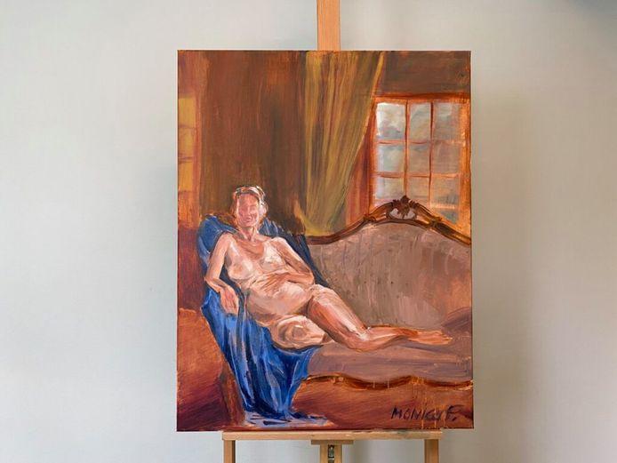 Het door Monica geschilderde naaktproject in aflevering 3 van Project Rembrandt zónder de tepels.