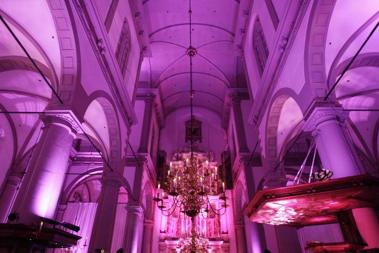 Het Pink Ribbon Gala in de Westerkerk in Amsterdam in 2010. Beeld ANP