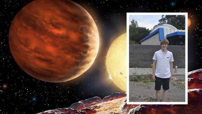 Impressie van de planeet en student Tom