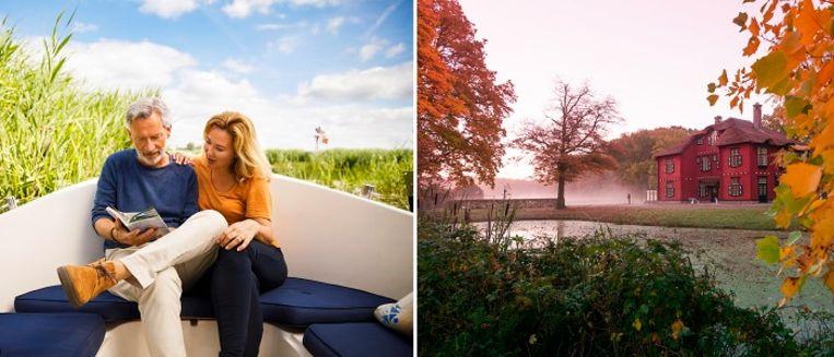 Een van de mooiste manieren om dit deel van Overijssel te ontdekken is vanaf het water. Of bezoek landgoed De Eese, waar je prachtig kunt wandelen of een rondleiding kunt volgen.  Beeld