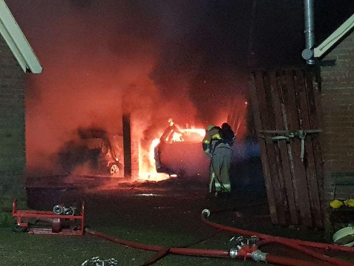 In een kapschuur  aan de Huiskesdijk in Beltrum is vrijdagavond brand ontstaan.