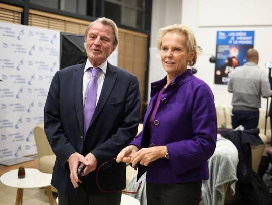 """Le père de Camille Kouchner et """"Victor"""", Bernard Kouchner, ancien ministre des Affaires étrangères (avec son épouse Christine Ockrent)"""