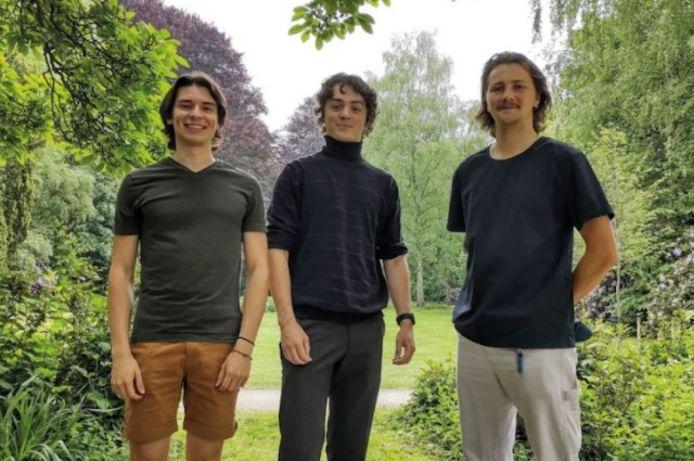 Ian Biermans, Jules Vermeersch en Basil Crollet van Jabi jazzfestival.