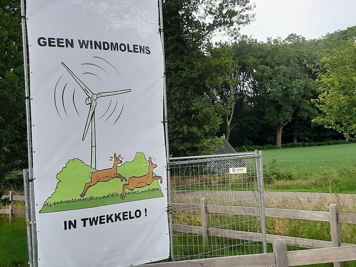 Bewoners van Twekkelo voerden eerder actie tegen de komst van windmolens.