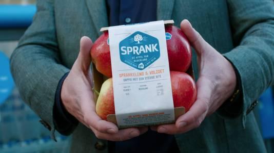 De nieuwe appel genaamd 'Sprank' verwijst naar sprankelend, fris en vernieuwend.