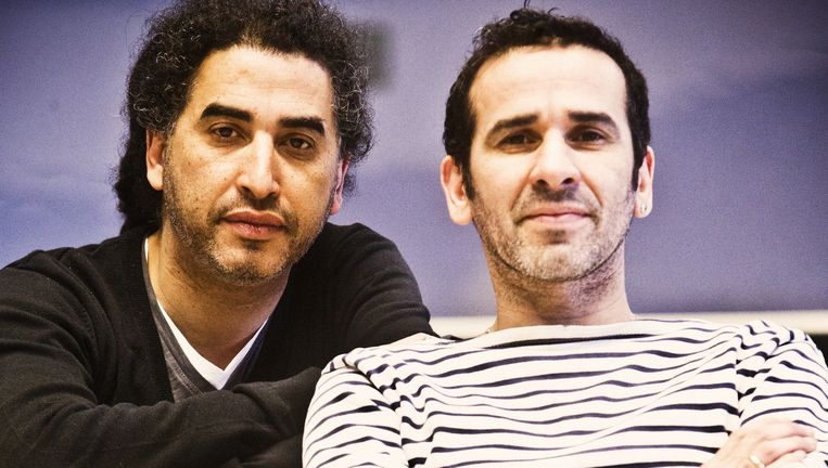 Chokri Ben Chikha en Zouzou Ben Chikha. Beeld Jonas Lampens