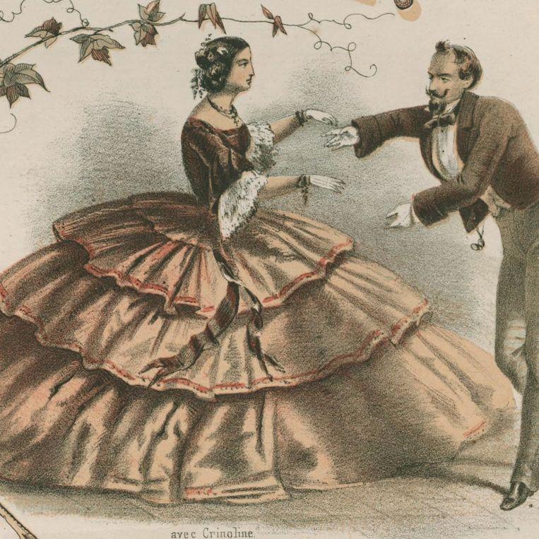 Een jurk die overduidelijk zegt: don't stand so close to me. Beeld RV