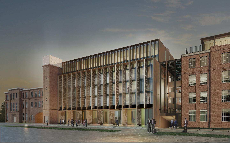 Het nieuwe complex op de plek van het U-gebouw van KVL