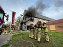 De brand zorgde voor fikse rookontwikkeling.