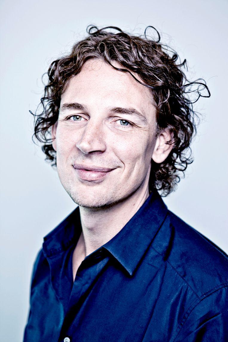 Jaap Biemans, art director van Volkskrant Magazine. Beeld Martin Dijkstra