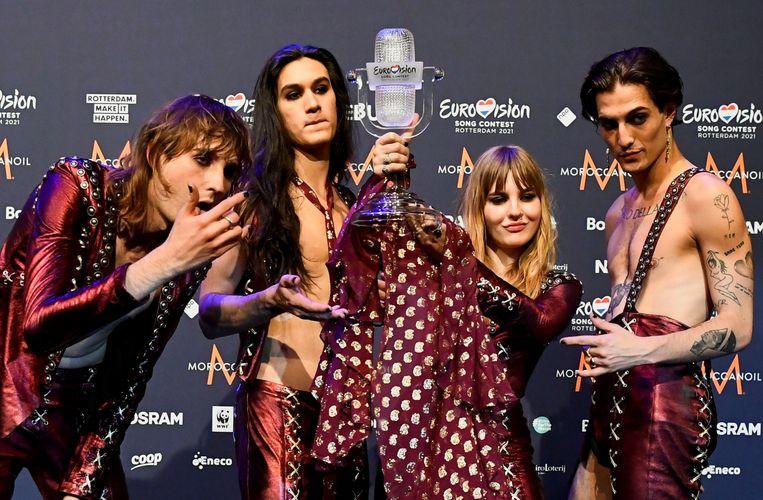 Winnaar Italië laat rockmuziek herleven op Songfestival, deceptie voor Jeangu Macrooy   Het Parool