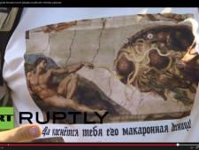 Politie Moskou maakt einde aan processie van pastafari's