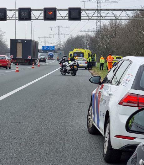 File door ongeluk op A35 tussen Enschede en Almelo