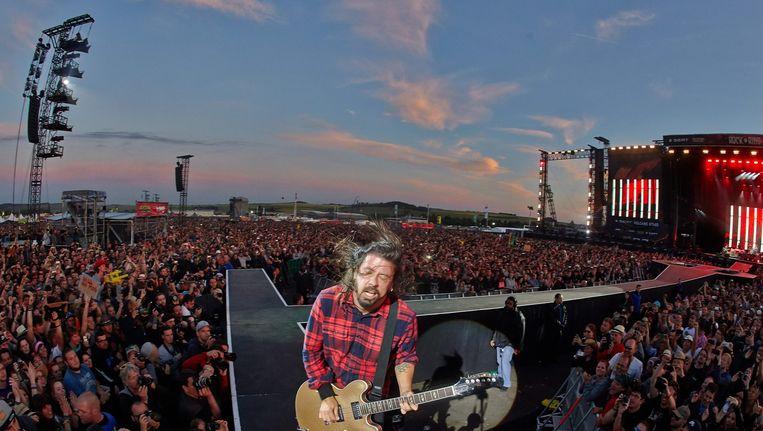 Dave Grohl, zanger van de Foo Fighters Beeld anp