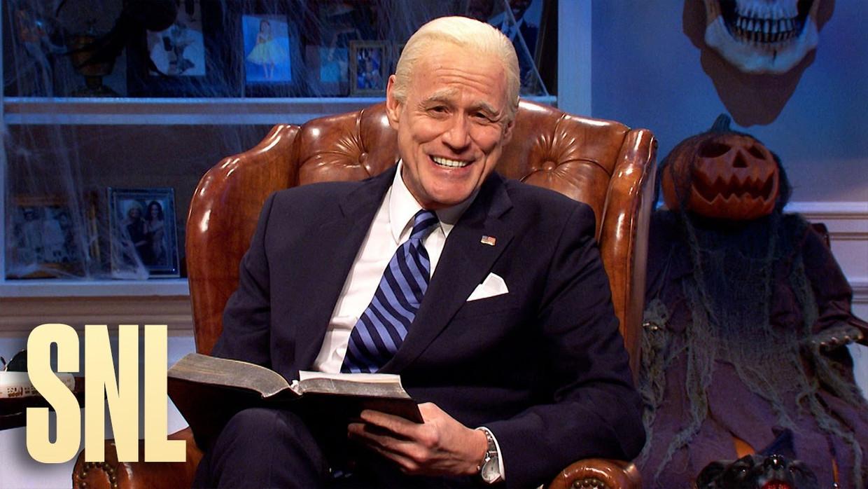 Jim Carrey als Joe Biden in Saturday Night Live. Beeld SNL