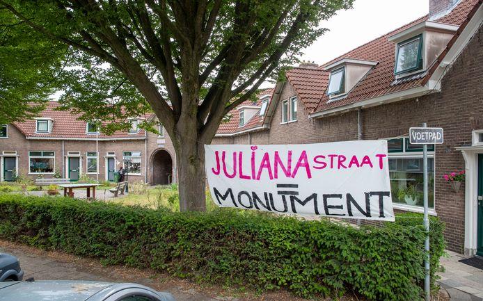 Bewoners van de Julianastraat zetten zich in voor een gemeentelijke monumentenstatus van hun woningen.