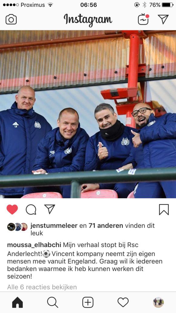 Video-analist vertrekt bij Anderlecht.