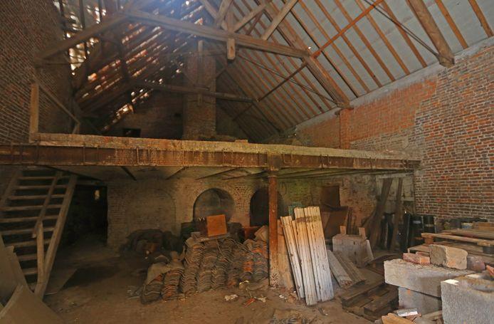 Het voormalige brouwerijgebouw waar de ketels stonden.