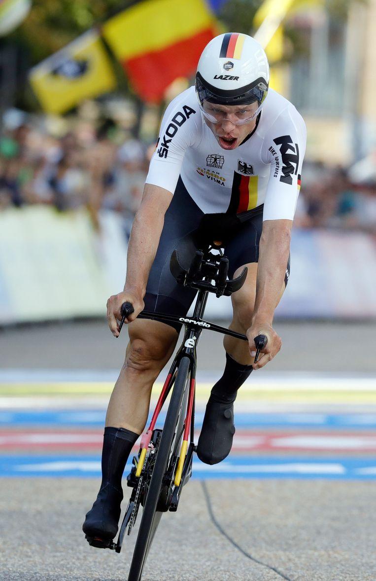 Tony Martin kwam ten val in de Tour en stopte met wielrennen. Beeld EPA