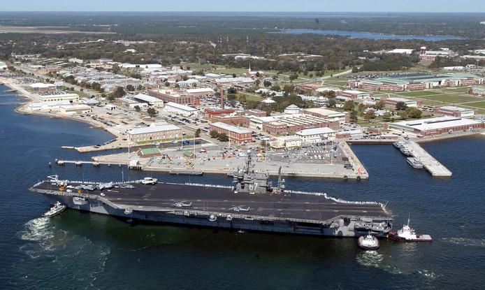 La base aéronavale américaine de Pensacola, en Floride.