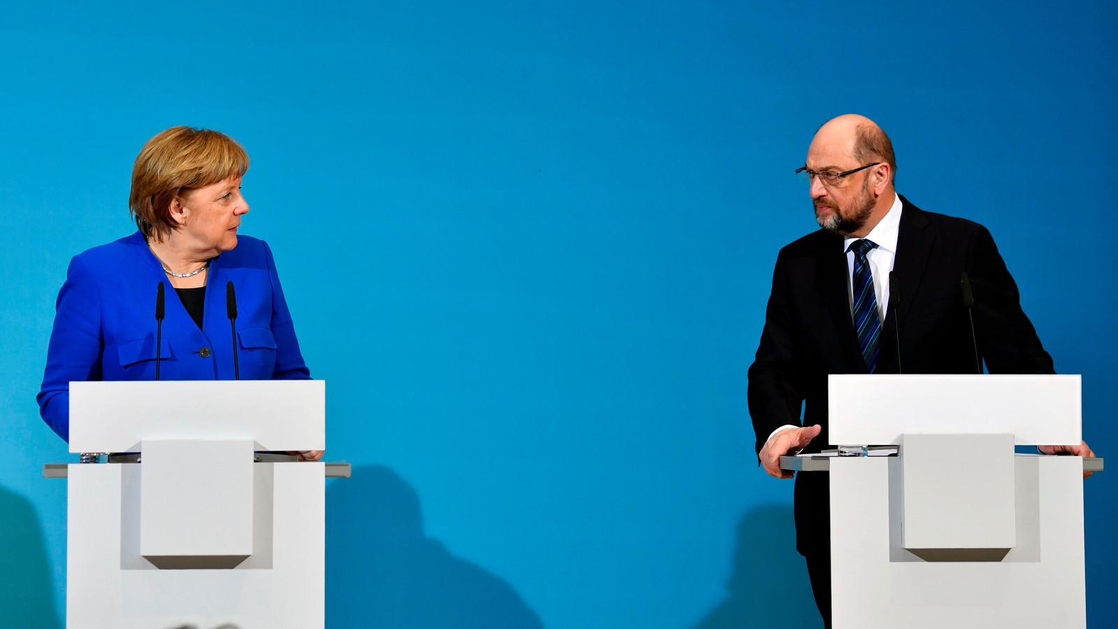 Merkel en Schulz kunnen weer gaan onderhandelen.