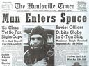 De eerste man in de ruimte was wereldnieuws in 1961.