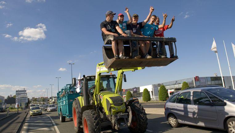 De boeren zorgen al een week voor problemen op de Franse wegen. Beeld AFP