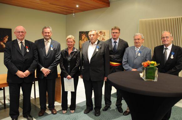Daniël Vermeersch (tweede  van rechts) overleed afgelopen woensdag.