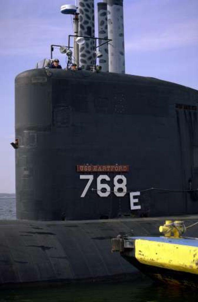 De onderzeeër USS Hartford. Beeld UNKNOWN