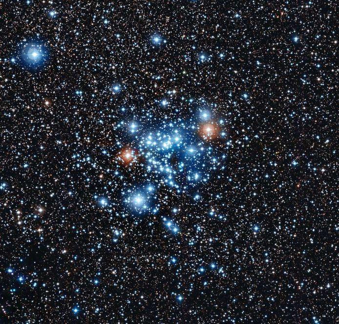 Beeld van de veranderlijke sterren met de telescoop van het La Silla-obesrvatorium in Chili.