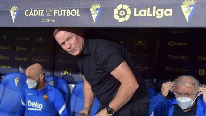 """Koeman foetert na rode kaart en gelijkspel tegen Cadiz: """"In dit land sturen ze je voor niets weg"""""""