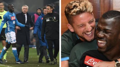 Mertens en Batshuayi steken Koulibaly die slachtoffer was van racisme hart onder de riem, Inter twee matchen zonder fans