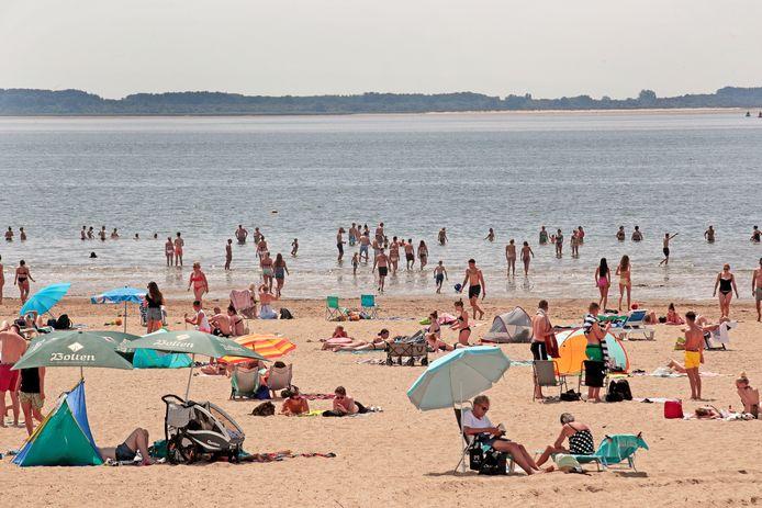 In het water van het strand bij Rockanje zit een poepbacterie.