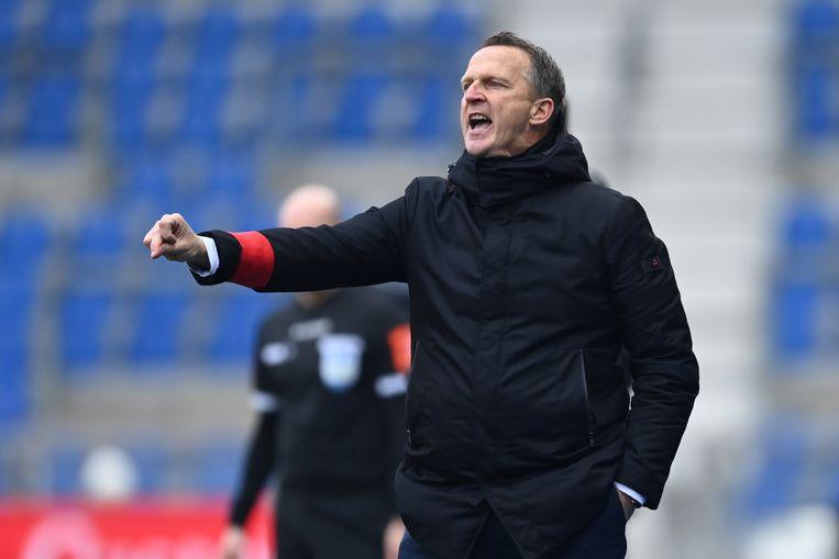 """Genk-coach: """"Ik wil de rest van de ploeg niet tekortdoen, maar je kunt toch niet om ons trio voorin heen."""" Beeld BELGA"""
