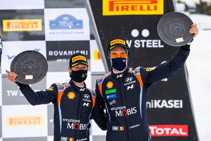 Après deux podiums en WRC, Thierry Neuville et Martijn Wydaeghe remportent leur première victoire commne.