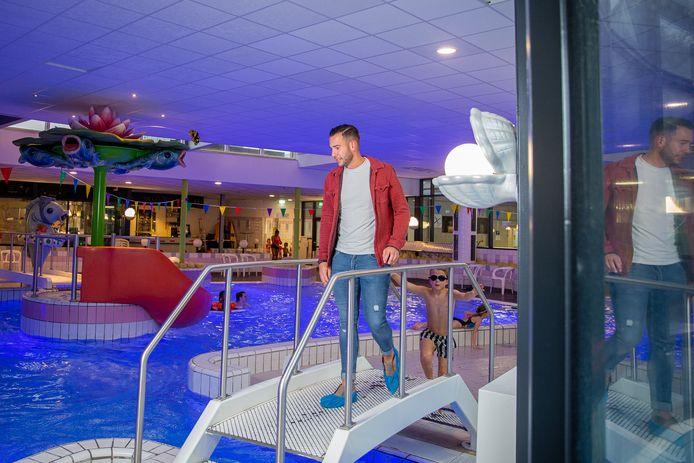 Manager Sven Moors in zwembad De Meerval: ,,De oudere zoekt meer uitdagende zwembaden. Die gaat naar Oss.''