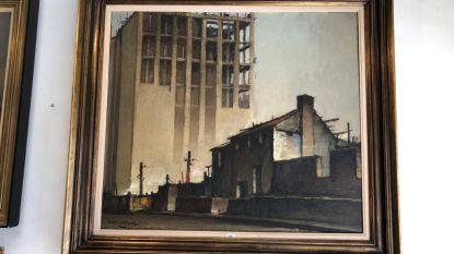 Schilderij dat bouw Boekentoren toont, geveild voor 5.000 euro