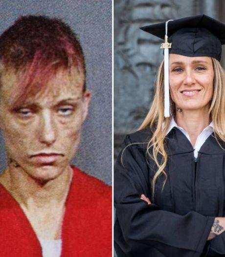 48-jarige vrouw raakte op haar 12e verslaafd aan harddrugs en studeert nu af aan de universiteit