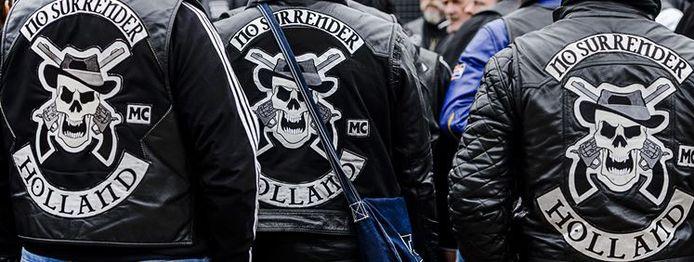 Leden van motorclub No Surrender op archiefbeeld, foto ter illustratie.