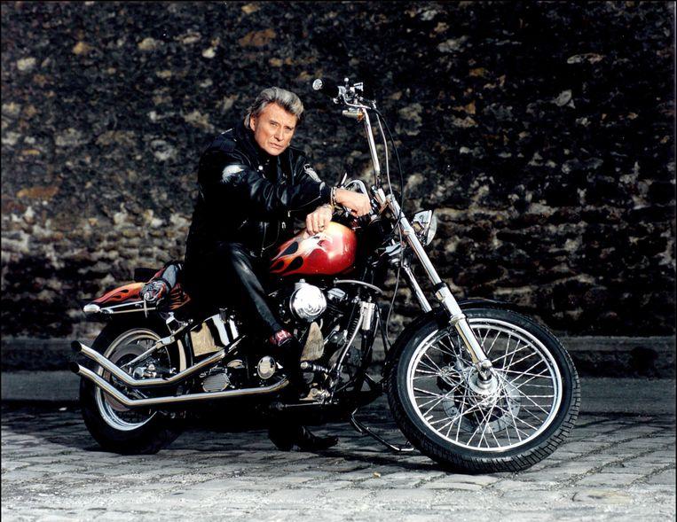 Johnny Hallyday in 1996. Beeld Photonews