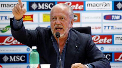 """Te diep in het wijnglas gekeken of visionair? Voorzitter Napoli haalt erg zwaar uit naar UEFA en PSG en zegt: """"Als we niet oppassen, verdwijnt het voetbal straks"""""""
