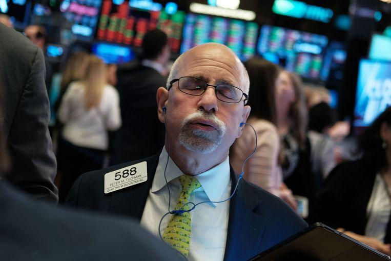 Beleggers reageerden teleurgesteld. Beeld AFP