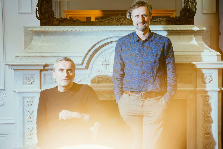 Koen Schoors en Gert Peersman.  Beeld © Stefaan Temmerman